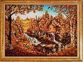 Картина Дом в чудесном лесу из янтаря