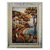 Картина город у моря из янтаря