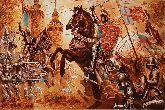 Картина историческая битва из янтаря