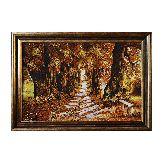 Картина из янтаря Дубовая аллея в парке
