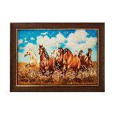 Картина из янтаря Лошади в степи