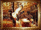 Картина из янтаря охота на уток