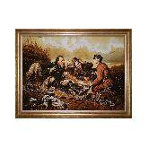 Картина из янтаря Перова Василия «Охотники на привале»