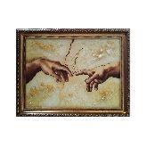 Картина из янтаря Сотворение Адама фрагмент