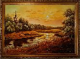 Картина из янтаря закат солнца