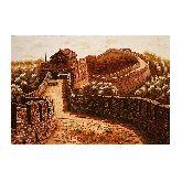 Картина китайская стена из янтаря