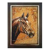 Картина конь из янтаря