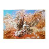 Картина красивые Голуби из янтаря