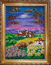 Картина красивый закат из янтаря