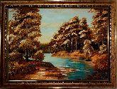 Картина невероятный лесной пейзаж из янтаря