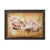 Картина нежные розы из янтаря