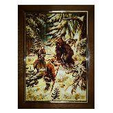 Картина Охота на медведя из янтаря