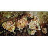 Картина прелестные розы из янтаря