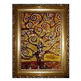 Картина с янтаря «Дерево жизни» Густав Климт 2