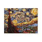 Картина с янтаря «Звездная ночь» Ван Гог