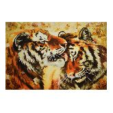 Картина Тигры из янтаря