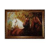 Картина три коня из янтаря