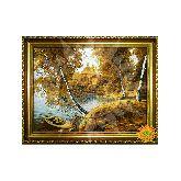 Картина Украинский пейзаж из янтаря