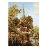 Картина высокий замок из янтаря