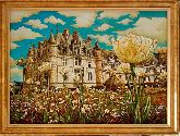 Картина Замок Шенонсо из янтаря