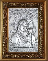 Икона Богородица Казанская, рамка модерн, 100х150