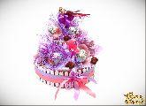 Букет из конфет Киндер-торт для девочки