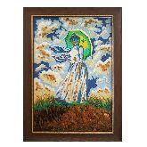 Клод Моне картина из янтаря Дама с зонтиком