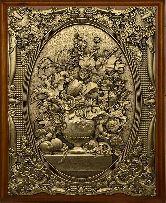 """Деревянная ключница """"Цветы в вазе"""" малая"""