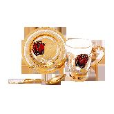 """Кофейный набор """"Тюльпан"""", Подстаканник, чашка, блюдце, ложка"""