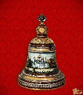Фарфоровый штоф Колокол (цветной с золотом)