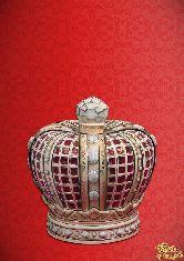 Фарфоровый штоф Корона английская (цветная с золотом)