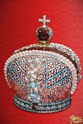 Фарфоровый штоф Корона Российской Империи (цвет.золото со стразами)