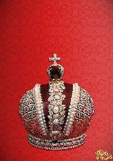 Фарфоровый штоф Корона Российской Империи (цветная с золотом)