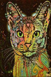 Картина из янтаря Кошка