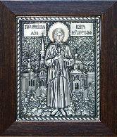 Икона Ксения Петербуржская, рамка классическая, 80х100
