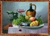 Кувшин с вином и фрукты