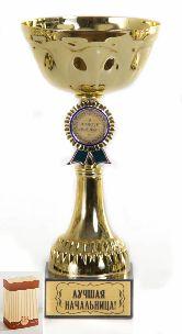 Кубок подарочный Чаша с эмблемой Лучшая начальница