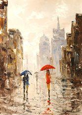 """Картина на холсте """"Дождливый день"""""""