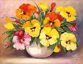 """Картина на холсте """"Красочные цветы"""""""