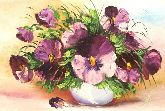 """Картина на холсте """"Фиолетовый букет"""""""