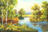 "Картина на холсте ""Теплое летнее утро"""