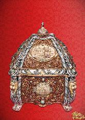 Фарфоровый штоф Ларец (цветной с золотом)