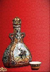 Фарфоровый штоф Башкунек (цветной с золотом)