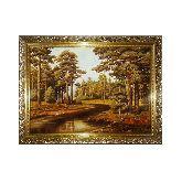 Лесной пейзаж янтарная картина