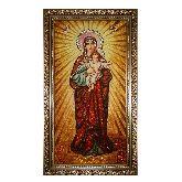 Леушинская икона Божией Матери из янтаря