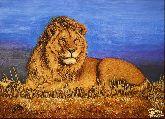 Картина из янтаря Лев