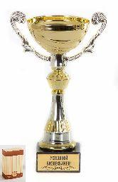 Кубок подарочный Чаша золотая с серебр.рельефными ручками Успешной бизнесвумен