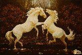 Картина из янтаря Танец лошадей