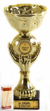 Кубок подарочный Руки Золотая дочка! 18см