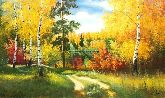 """Картина на холсте """"Лесные узоры"""""""